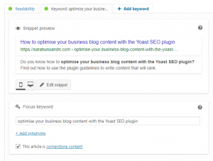 How to optimise your business blog content with the Yoast SEO plugin