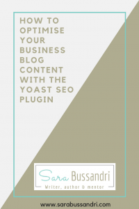 How to How to optimise your business blog content with the Yoast SEO plugin, with Sara Bussandri