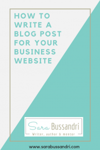 How to write a blog post for your business website. Pinterest