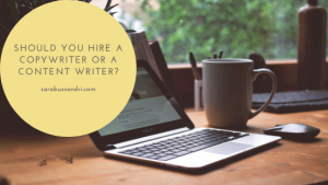 hiring a copywriter