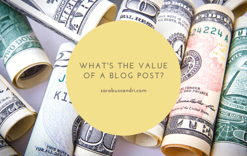 What's the value of a blog post?