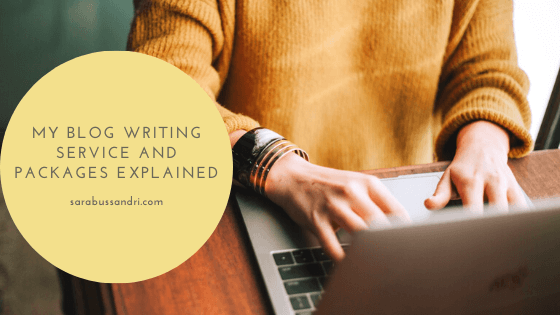 My blog writing service and packages explained